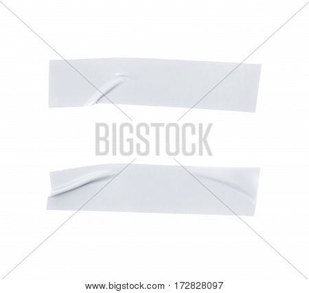 Single piece of insulating tape isolated over the white background, set of two different foreshortenings