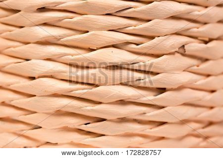 Closeup Macro Woven Basket Abstract Background