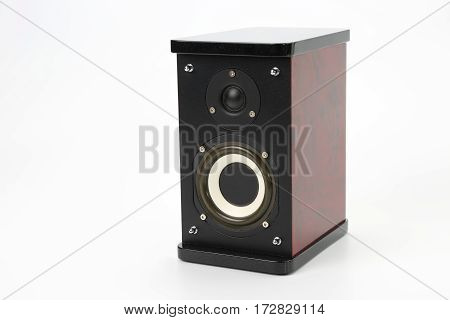 the a audio speaker on white background