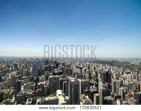 Skyscrapers aerial view, Sao Paulo, Brazil