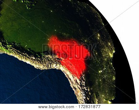 Bolivia From Space