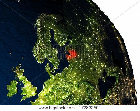 Latvia From Space