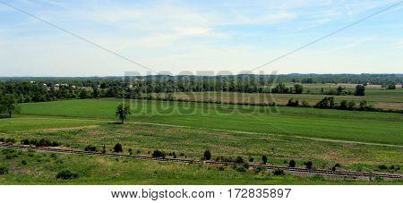 Getysburg National Military Park Arial Elevated View, Getysburg Pennsylvania