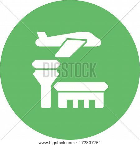 Airport, sign, travel icon vector image. Can also be used for town. Suitable for mobile apps, web apps and print media.