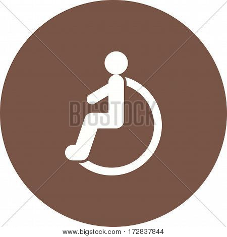 Disabled, wheelchair, person icon vector image. Can also be used for town. Suitable for mobile apps, web apps and print media.