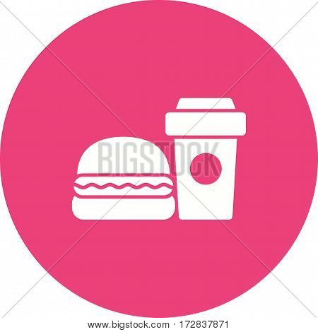 Food, fast, restaurant icon vector image.Can also be used for town. Suitable for web apps, mobile apps and print media.