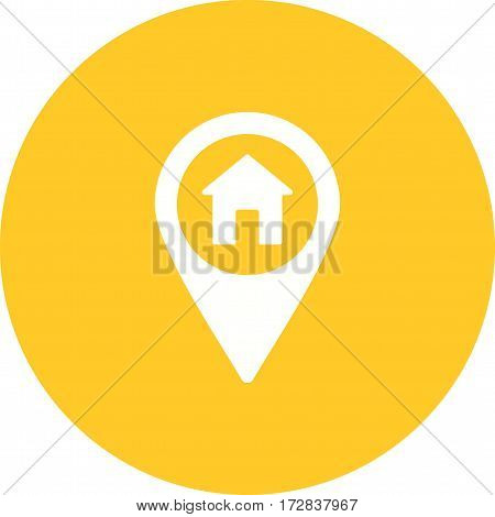 Home, road, city icon vector image. Can also be used for town. Suitable for use on web apps, mobile apps and print media.