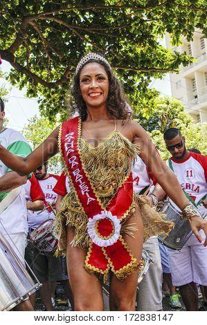 Brazilian Popular Street Carnival With Samba Music