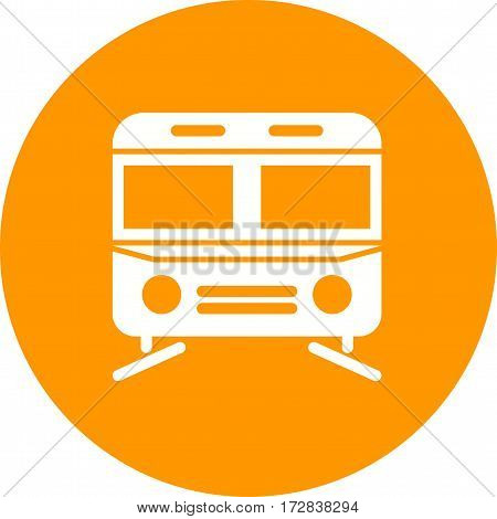 Subway, city, train icon vector image. Can also be used for town. Suitable for use on web apps, mobile apps and print media.
