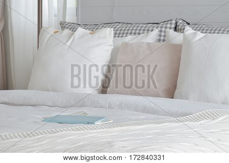Notebook Setting On Bed In English Country Style Bedding Interior