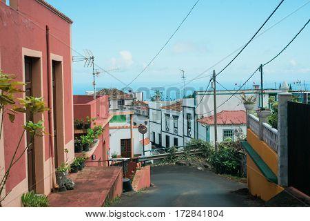 Lovely village in La Palma, Canary Islands
