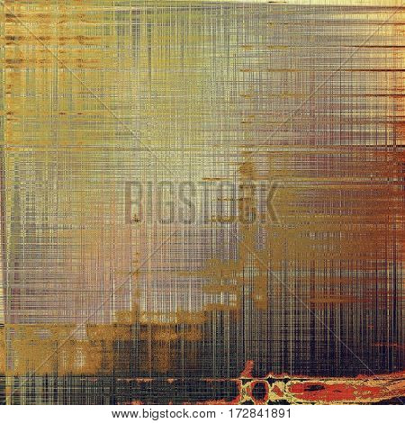 Traditional grunge background, scratched texture with vintage style design and different color patterns: yellow (beige); brown; gray; red (orange); pink; black