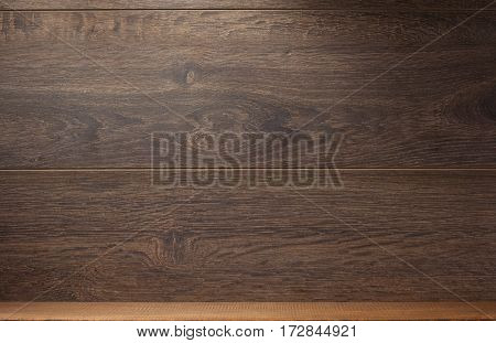 wooden shelf and wall background