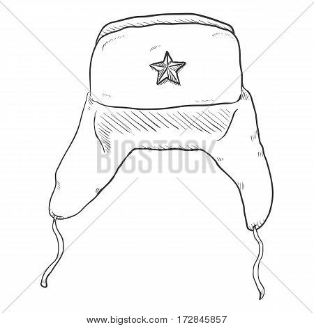 Vector Sketch Ussr Military Hat