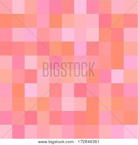 squre pixel in soft pink tone color background