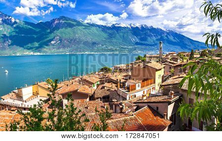 Limone - beautiful small town in pictorial Lago di Garda. Italy