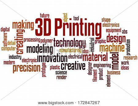3D Printing, Word Cloud Concept 8