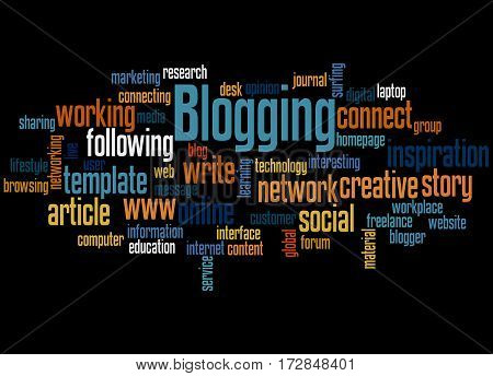 Blogging, Word Cloud Concept 2
