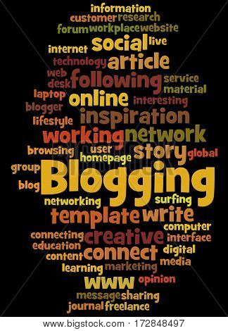 Blogging, Word Cloud Concept 6