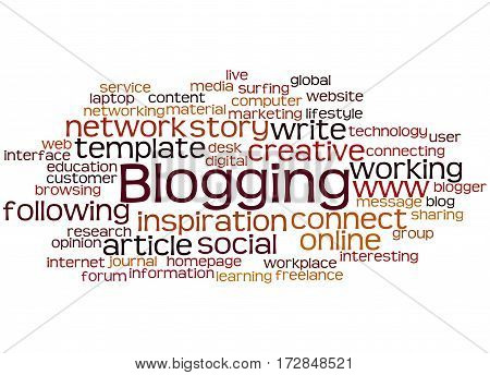 Blogging, Word Cloud Concept 7