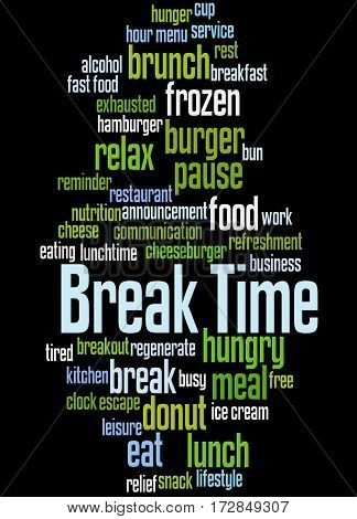 Break Time, Word Cloud Concept 6