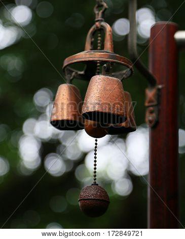 Scenery of the bell of the door