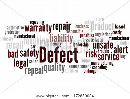 Defect, Word Cloud Concept 3