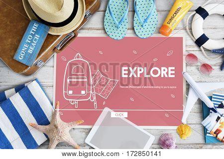Vacation Trip Adventure Holiday Concept