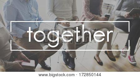 Teamwork Brainstorm Together Hashtag Word