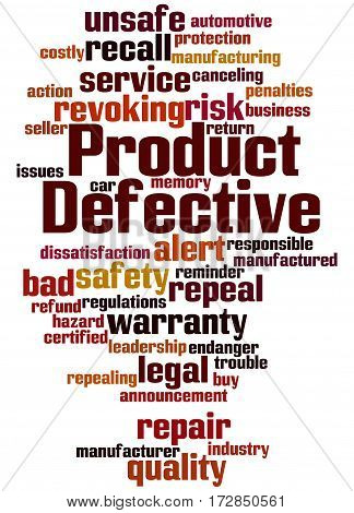 Defective Product, Word Cloud Concept 5