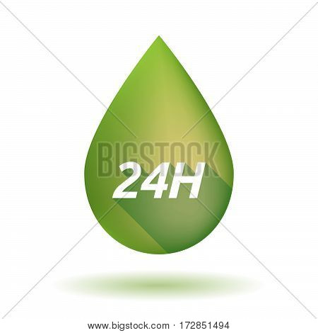 Isolated Olive Oil Drop With    The Text 24H