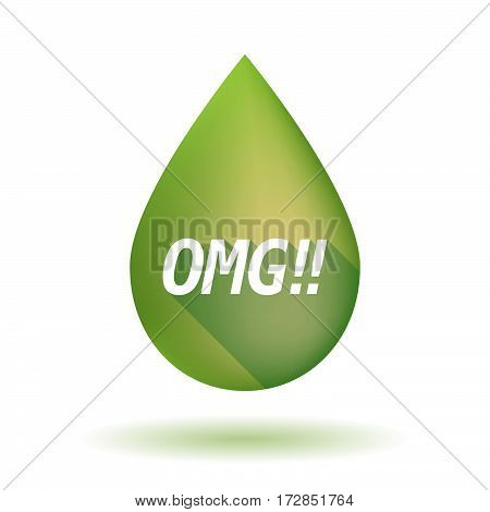 Isolated Olive Oil Drop With    The Text Omg!!