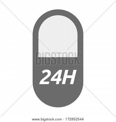 Isolated Pill With    The Text 24H