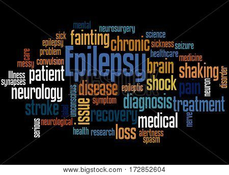 Epilepsy, Word Cloud Concept 2