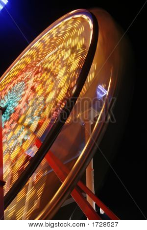 Ferris Wheel In Full Spin