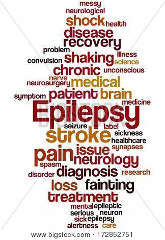 Epilepsy, Word Cloud Concept 4