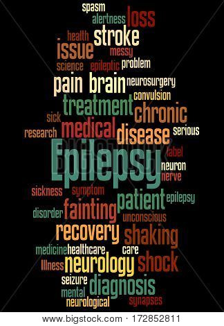 Epilepsy, Word Cloud Concept 5