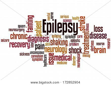 Epilepsy, Word Cloud Concept 6