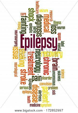 Epilepsy, Word Cloud Concept 7