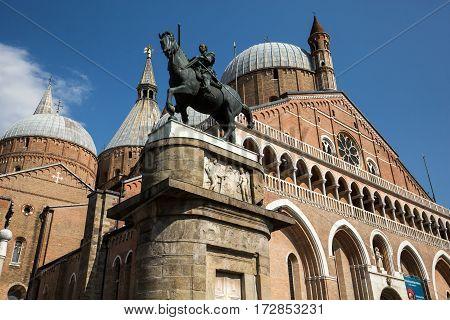 PADUA ITALY - MAY 3 2016: Basilica di Sant'Antonio da Padova in Padua Italy