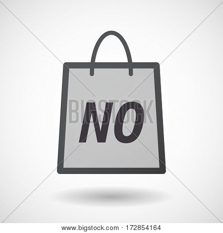 Isolated Shopping Bag With    The Text Wtf!?