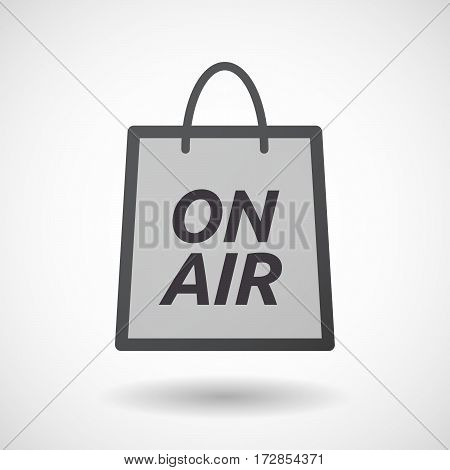 Isolated Shopping Bag With    The Text On Air