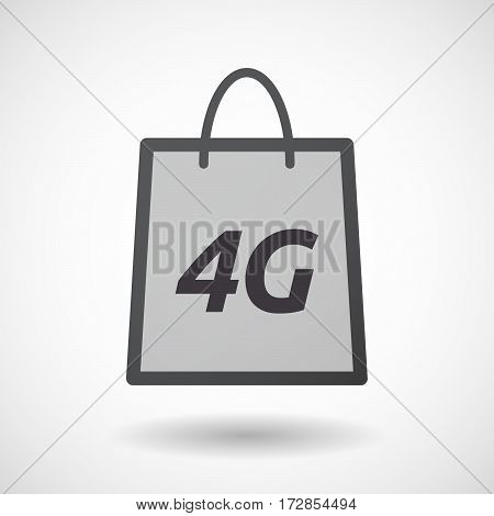 Isolated Shopping Bag With    The Text 4G