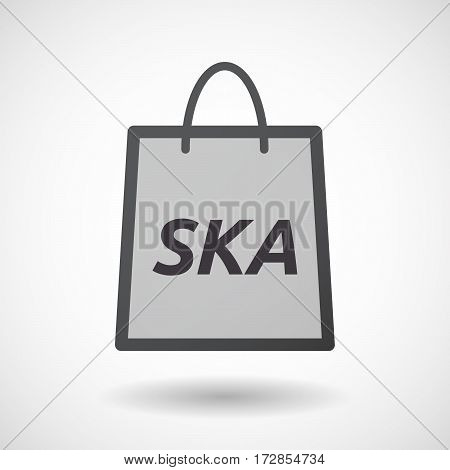 Isolated Shopping Bag With    The Text Ska