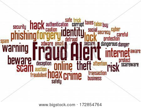 Fraud Alert, Word Cloud Concept 2