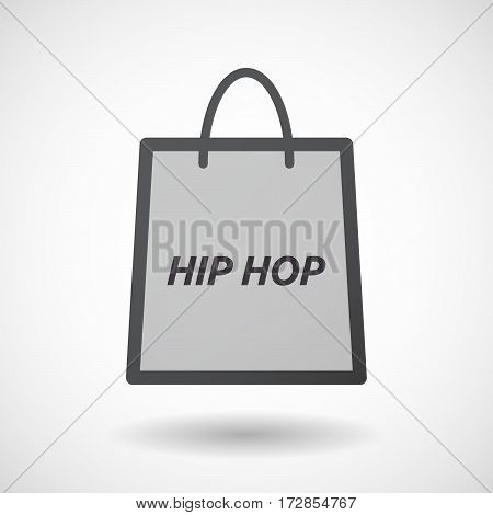 Isolated Shopping Bag With    The Text Hip Hop
