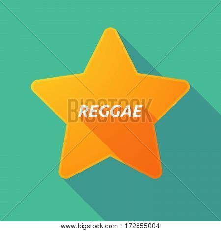 Long Shadow Star With    The Text Reggae