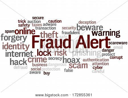Fraud Alert, Word Cloud Concept 8