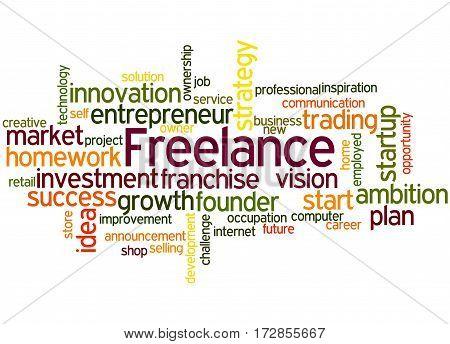 Freelance, Word Cloud Concept 2