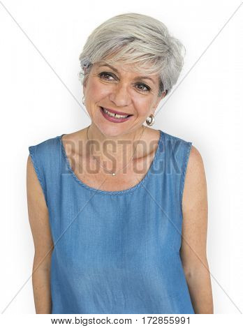 Mature Lady Cheerful Happy Concept